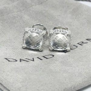 David Yurman Chatelaine White topaz diamond studs
